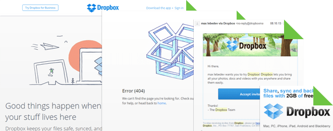 Dropbox marketing