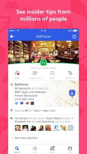 foursquare-location-based-services screen 1
