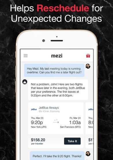 mezi-travel-chatbot-app-screen